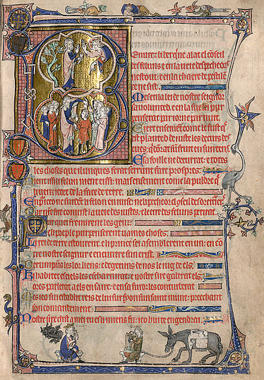 Isabella-Psalter | © BSB/Cod.gall. 16