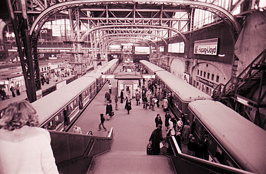 Hamburger Hauptbahnhof (1977) | © BSB/STERN-Fotoarchiv/Tom Jacobi