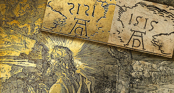 Christus am Ölberg. Detail der einzigen erhaltenen Radierplatte Albrecht Dürers samt Abzug, 1515 (Kupferplatte 25 und I C 1) | © Staatsbibliothek Bamberg/Gerald Raab