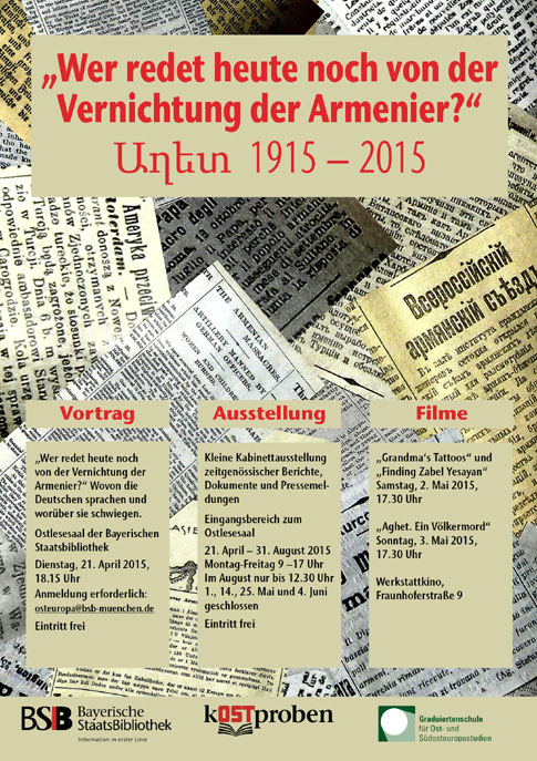 100 Jahre Nach Dem Genozid An Den Armeniern 1915 2015