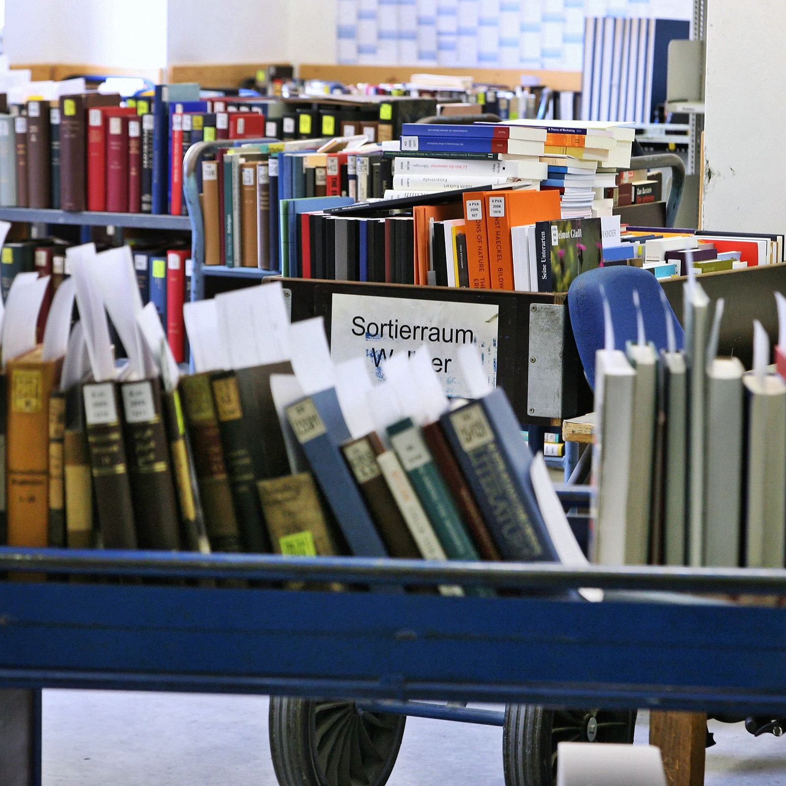 Book trolley for book provision | © BSB