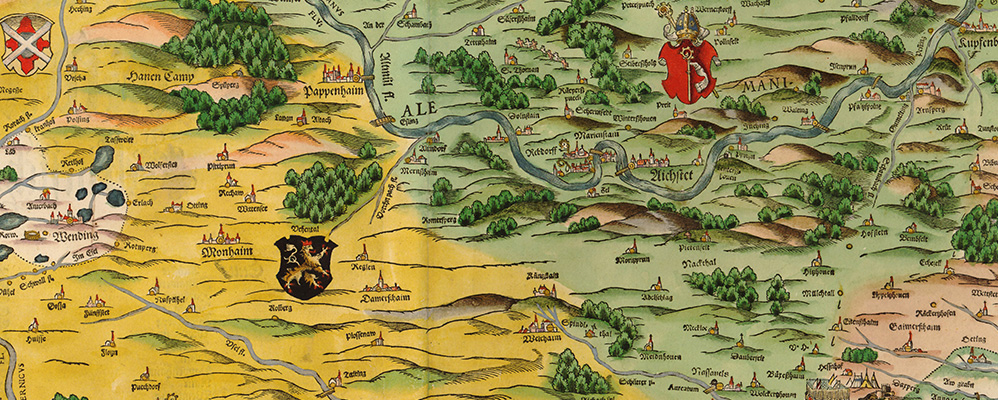 Bavarica in maps