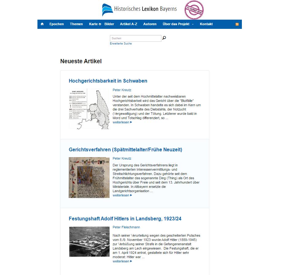 Website für Gerichtsverfahren