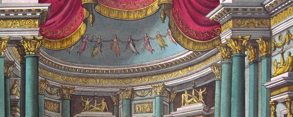 Theatre and ballet scenes. 33 aquatint sheets by Alessandro Angeli, i.a. Milan, around 1825 | © BSB/ 4 Icon. 55