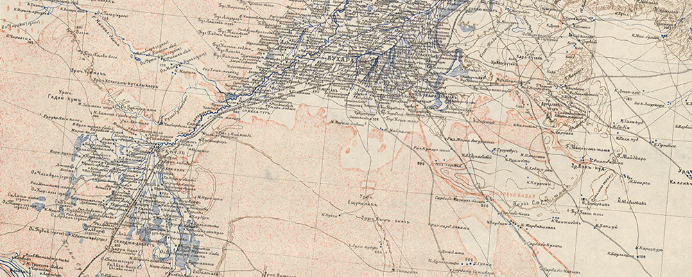Ten-verst map of the military district Turkestan (detail) | © BSB
