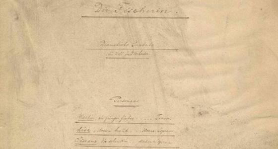 D-Bhm, RH 0268, Engelbert Humperdinck – Die Fischerin (Titelseite, Ausschnitt) | © Universität der Künste Berlin, Universitätsbibliothek